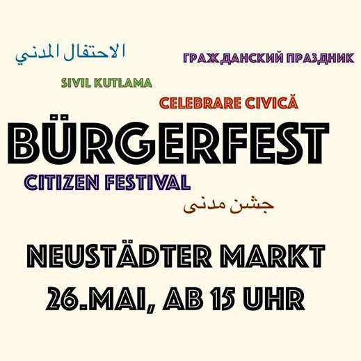 Logo Bürgerfest Neustädter Markt – Ein Stadtteil feiert sich selbst.